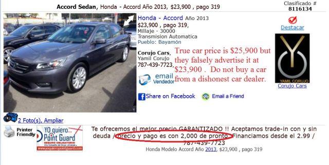 Corujo Cars, Yamil Corujo, 787-439-7723, Bayamón