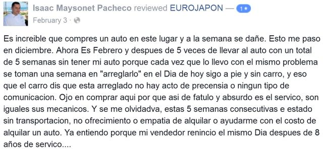 EuroJapon review by Isaac Maysonet Pacheco