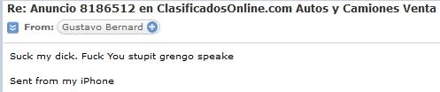 Gustavo Bernard, Bavarian Auto Brokers, Villa Victoria Auto Sales, 787-632-3353, racist against gringos