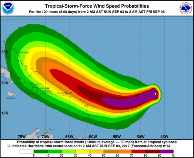 hurricane tropical storm force wind speed probabilities