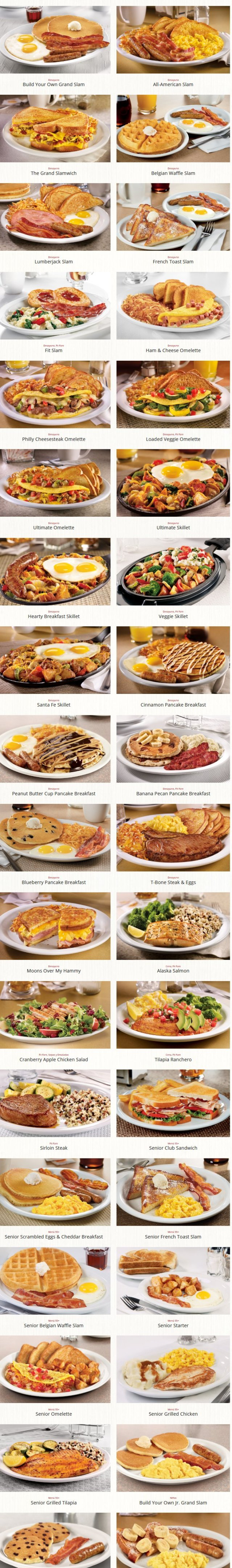 Denny's entrees