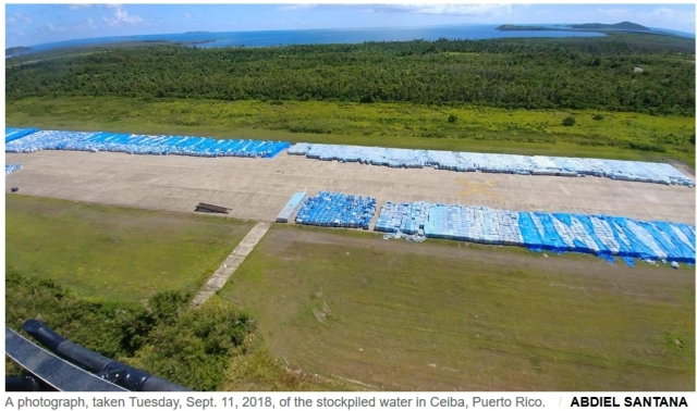 Over 10 million water bottles left on tarmac to spoil in Ceiba, Puerto Rico